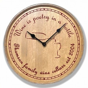 Carved Clock - Wine Bottle 1