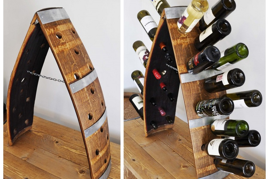 Barrel Stave Wine Rack 24 Bottle Wine Barrel Craft